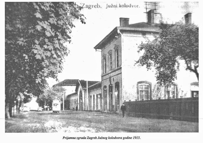 Prijamna zgrada Južnog kolodvora 1915. godine
