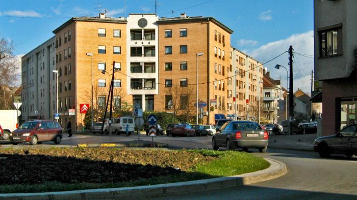 Rotor na Novoj cesti - križanje s Kranjčevićevom i Adžijinom