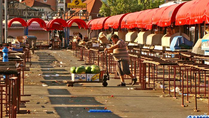 Trešnjevačka tržnica na kraju radnog dana