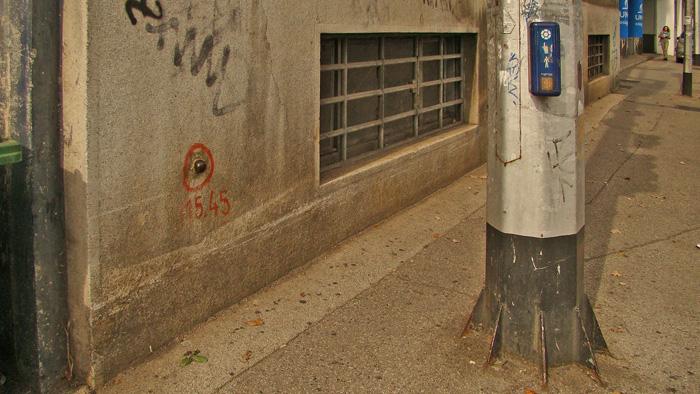 Reperna oznaka kote 115,45 (metara nad morem) na Savskoj cesti