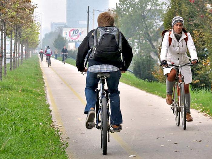Ovako izgleda kad je staza puna života i biciklista. Snimio: Vanja