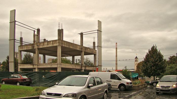 Neidentificirani nedovršeni objekt u kompleksu zgrada na Novoj cesti tik do Trešnjevačkog trga [GP 2013.]