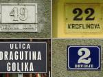 Postojeće numeracije na kućama u Golikovoj ulici [GP 2008.]