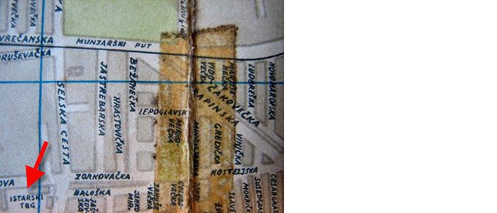 Položaj Istarskog trga na karti