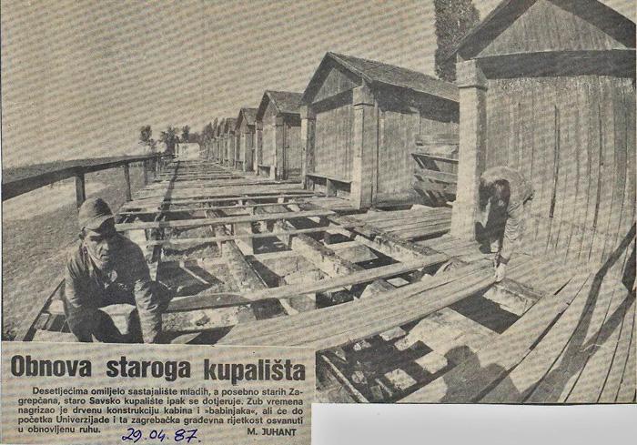 """Izrezak iz """"Večernjaka"""" iz 1987. godine [VT]"""