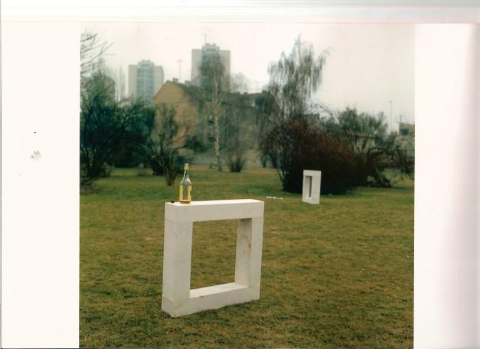 Slavomir Drinković, Skulpture otvorenog prostora, 14.-27.2. 1982. Park Veljka Vlahovića (današnji Park Stara Trešnjevka)