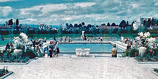 Povijesna slika parka i bazena u Zorkovačkoj ulici