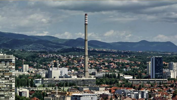 Pogled na sjevernu Trešnjevku s nebodera u Ulici braće Domany [MA 2013.]