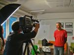 Član Uredništva Vanja tokom snimanja TV-priloga o projektu Mapiranje Trešnjevke [GP 2013.]