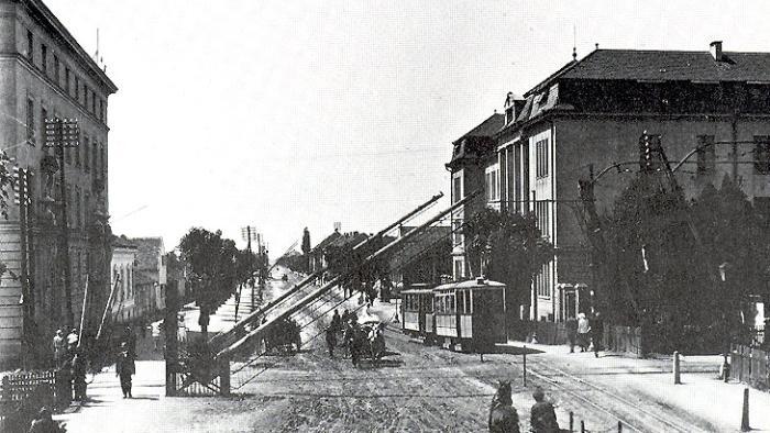 Tramvajski promet u Savskoj cesti 1926. godine [HKV]