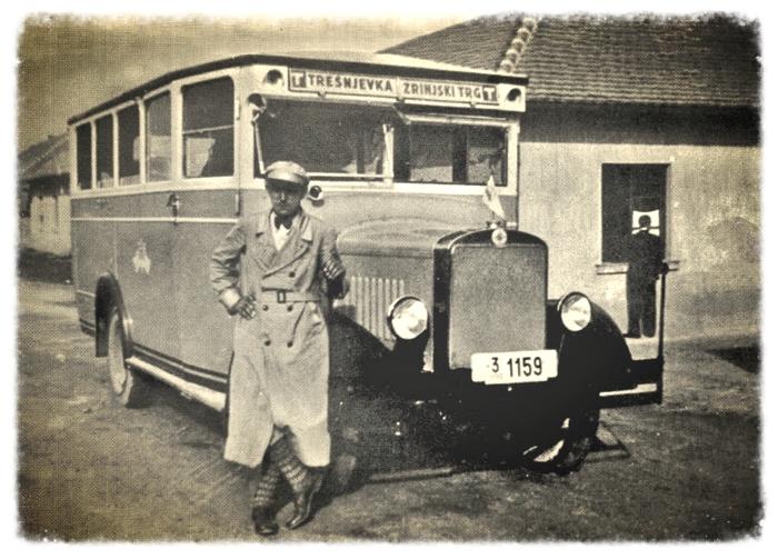 """Autobus """"Steyr"""" iz Austrije kojim je započela promet Gradska štedionica 1931. godine - preneseno iz Monografije ZET-a"""