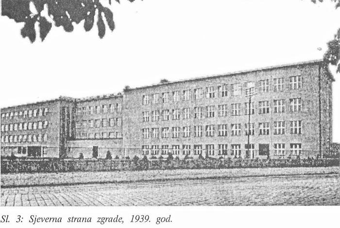 Zgrada IX. gimnazije dok je još djelovala na Savskoj cesti - preneseno iz zbornika 50-godišnjice