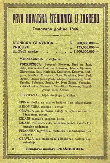 Oglas iz 1923. godine