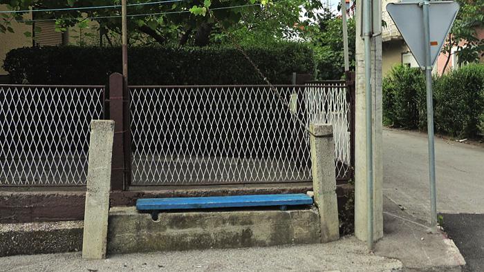 Klupica za odmor uz ulicu Ljubljanica [GP 2014.]