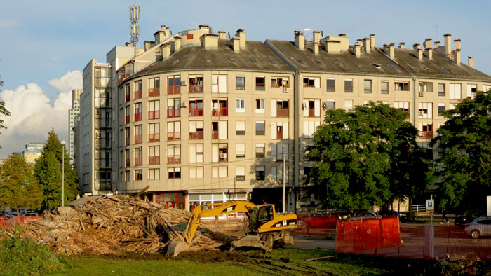 Epilog rušenja kuće-ruine na Novoj cesti 15.09.2014. [VR 2014.]