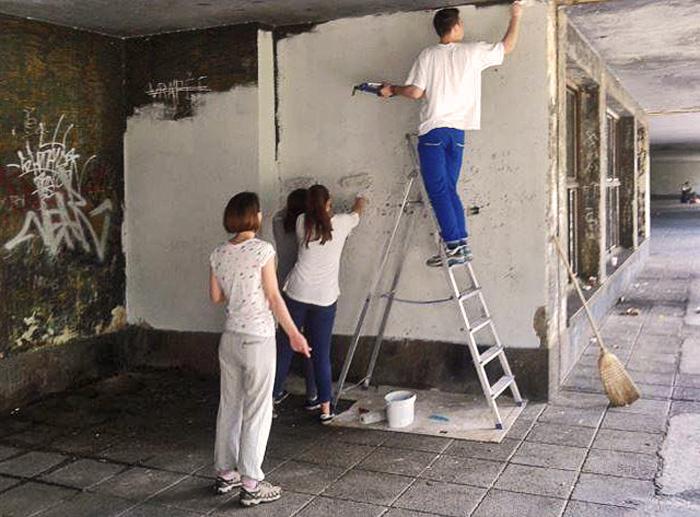 Radovi volontera IX. gimnazije [IR]