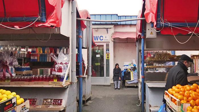 WC na tržnici Trešnjevački trg [VR 2014.]