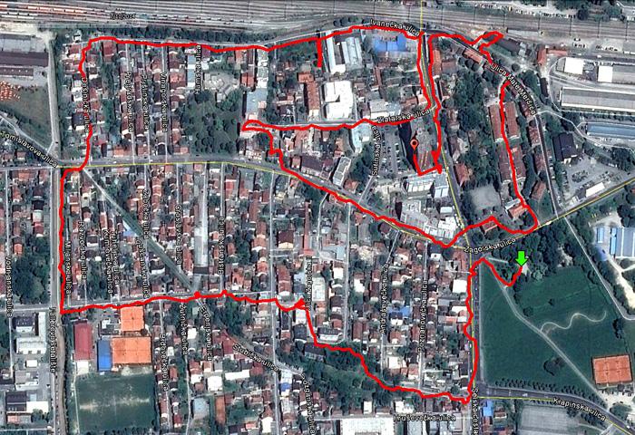 """""""Odrađena"""" trasa šetnje po Ciglenici - 07.11.2014. [MS 2014.]"""