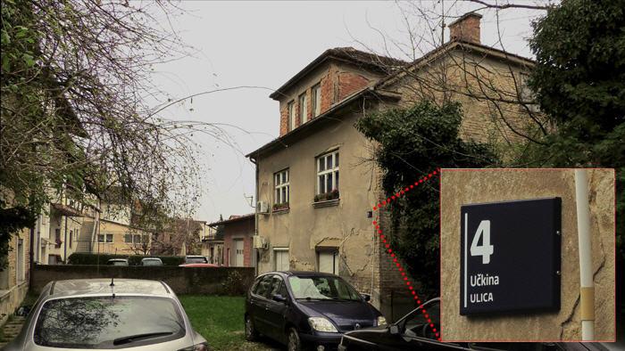 Zgrada na početku Učkine ulice odijeljena zidom od ostatka ulice [GP 2014.]