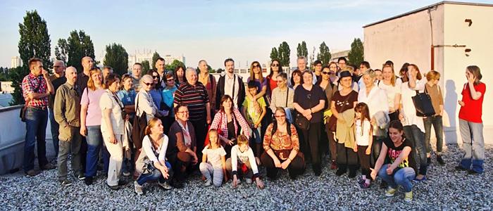 Sudionici šetnje koji su posjetili Osnovnu školu Augusta Šenoe [DŠ 2015.]