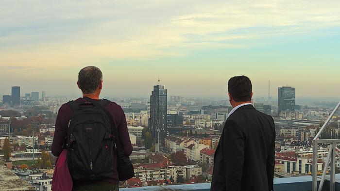 """Pogled s najvišeg kata hotela """"Panorama"""" prema istoku [GP 2015.]"""