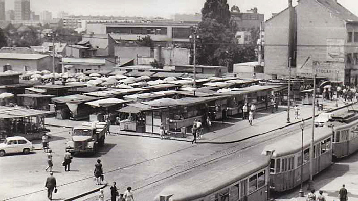 Arhivska slika Trešnjevačkog trga - zone užeg obuhvata rada Mateje Nosil