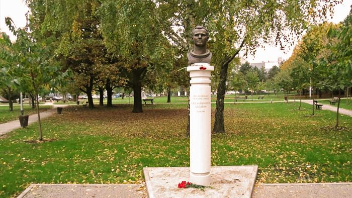 Spomenik Juriju Gagarinu u Parku Stara Trešnjevka [VR 2016.]
