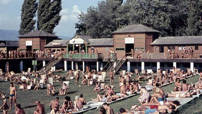 Gradsko kupalište na Savi oko 1955. godine [web]