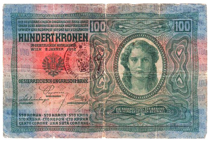 Novčanica od 100 (austrougarskih) kruna iz 1912. [VT 2016.]