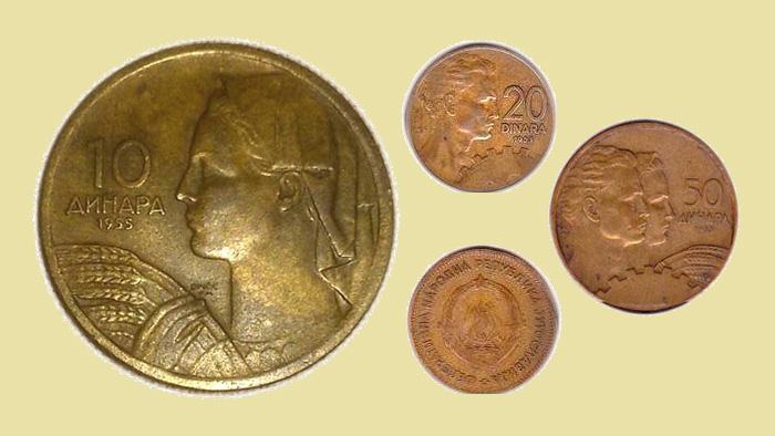 Kovanice jugoslavenskih dinara iz 1955. godine [VT 2016.]